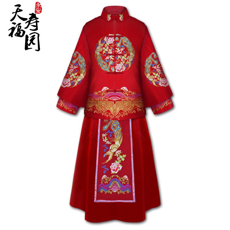 天福寿园  【鸾飞凤舞】尊贵华服女士寿衣全套